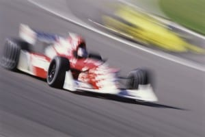 Racing Car in Motion