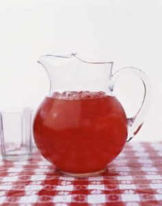 Pitcher of Red Beverage